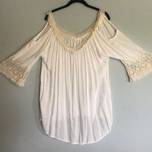 Surf Gypsy Ivory Cover Up/Blouse